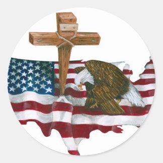 One Nation... Round Sticker