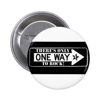one way to rock nutton 6 cm round badge