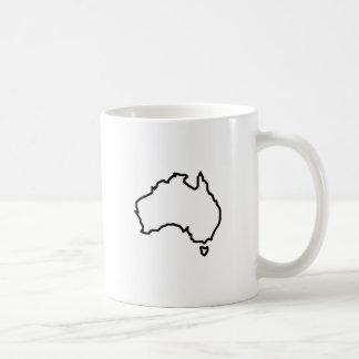 OPEN AUSTRALIA OUTLINE BASIC WHITE MUG