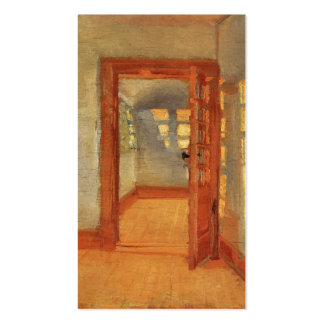 Open door sunny impressionist interior Anna Ancher Pack Of Standard Business Cards