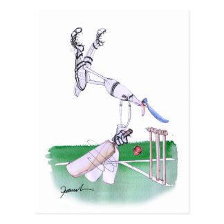 Opening Bat - cricket, tony fernandes Postcard