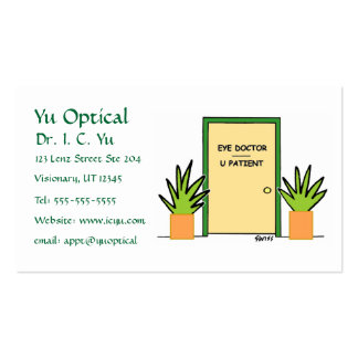 Optical Cartoon Business or Appointment Card Pack Of Standard Business Cards