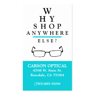 Optical Shop Pack Of Standard Business Cards
