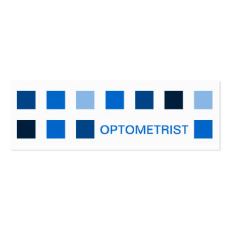 OPTOMETRIST (mod squares) Pack Of Skinny Business Cards