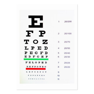 optometrist pack of chubby business cards