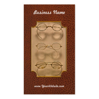 Optometrist - Simple gold frames Pack Of Standard Business Cards