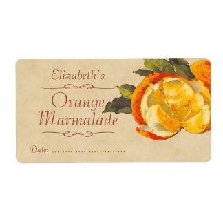 Orange Canning label Shipping Label