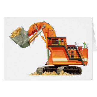 Orange Digger Greeting Card