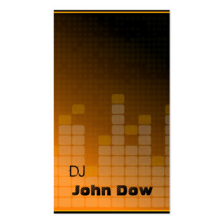 orange DJ Style Pack Of Standard Business Cards