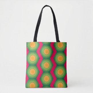 Orange dot colorful pattern all over print tote tote bag