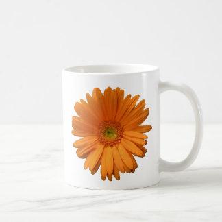 Orange Gerber Daisy Basic White Mug