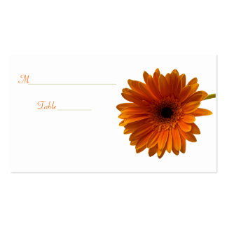 Orange Gerbera Daisy Special Occasion Place Card Pack Of Standard Business Cards