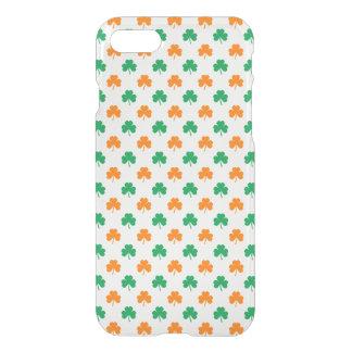 Orange Green Heart-Shaped Shamrocks On White iPhone 7 Case