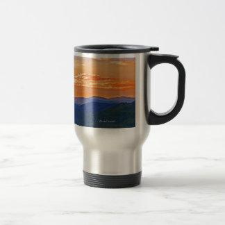 orange layers stainless steel travel mug