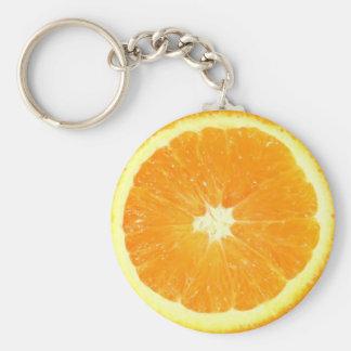 Orange Slice Basic Round Button Key Ring