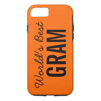 Orange World's Best Gram Custom iPhone 7 iPhone 7 Case