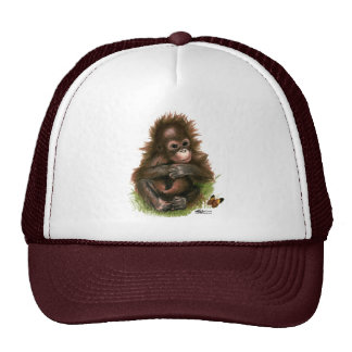 Orangutan Baby and Butterfly Cap