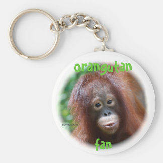 Orangutan Fan Basic Round Button Key Ring