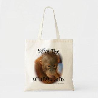 Orangutan Wildlife Conservation Budget Tote Bag