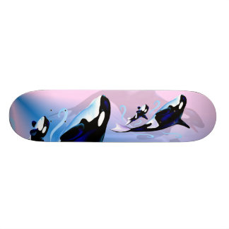 Orca Mom and Baby Skateboard