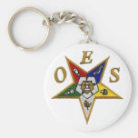 ORDER of the EASTERN STAR Basic Round Button Key Ring