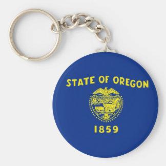 Oregon State Flag Basic Round Button Key Ring