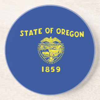 Oregon State Flag Beverage Coasters