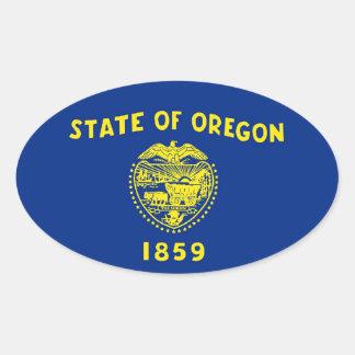 Oregon State Flag Oval Sticker