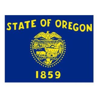 Oregon state flag postcards