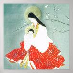 Oriental nativity scene, Mary and Jesus, Poster