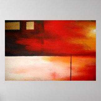 Original Abstract Painting Art Poster Modern