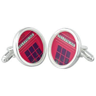 Original british red phone box cufflinks