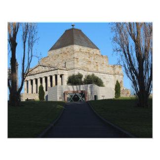 Original Photo Print Melbourne Shrine