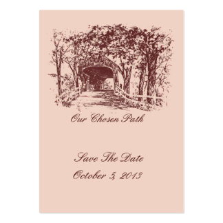 Our Chosen Path Save The Date Cards Pack Of Chubby Business Cards