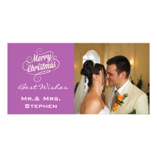 Our First Christmas Wedding Photo Cards