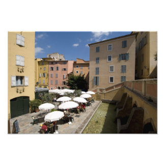 Outdoor café, Place de l'Eveche, Grasse, Art Photo