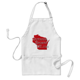 Outdoor Sports Wisconsin Red Logo Apron