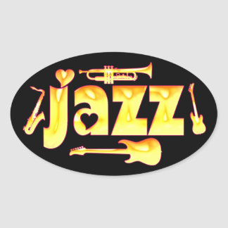 Oval Jazz Stickers