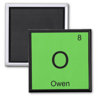 Owen Name Chemistry Element Periodic Table Square Magnet