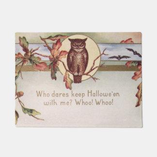 Owl Bat Autumn Fall Color Leaves Leaf Doormat