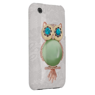 Owl Jewel & Paisley Lace iPhone 3G Case