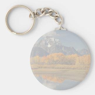Oxbow Bend Basic Round Button Key Ring