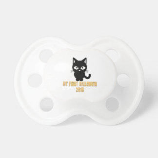 Pacifier Happy first Halloween cute kitty cat