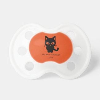 Pacifier Happy my first Halloween cute kitty cat
