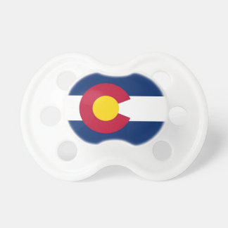 Pacifier with flag of Colorado, U.S.A.