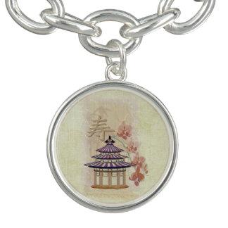 Pagoda Rose Mixed Media Oriental