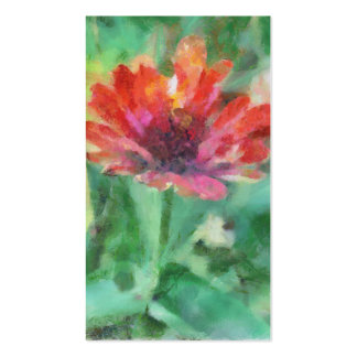 Painted Flower Artwork Business Card