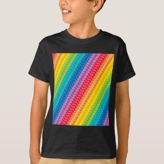 Painted Palette Rainbow Herringbone Pattern Shirts