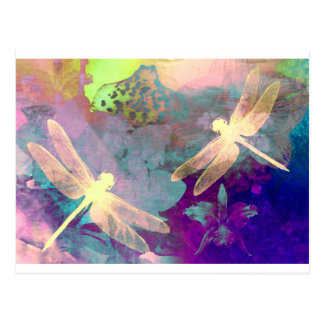 Painting Dragonflies Postcard