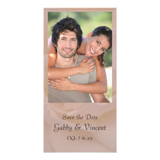Pale Pink Rose Floral Wedding Save the Date Photo Card Template
